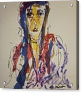 Female Face Study W Acrylic Print
