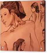 Female Figures Acrylic Print