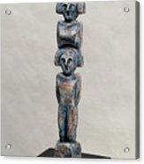 Female Figurine - Goddess Worship - Matronen - Matrone - Matrones - Matron - Nettersheim Eifel  Acrylic Print by Urft Valley Art