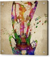Female Guitarist Acrylic Print