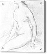 Female Nude Seated Acrylic Print