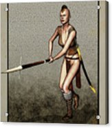 Female Pike Guard - Warrior Acrylic Print