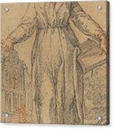 Female Saint (saint Clare Of Assisi Or Saint Catherine Of Siena?) Acrylic Print