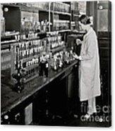 Female Scientist Conducting Experiment Acrylic Print
