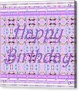 Feminine Lavender Birthday Card Acrylic Print