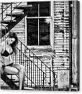 Feminine Stairwell Acrylic Print