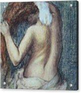 Femme A Sa Toilette Acrylic Print by Edgar Degas