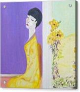 Femme En Jaune Acrylic Print
