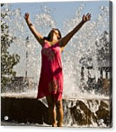 Femme Fountain Acrylic Print by Al Powell Photography USA