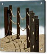 Fence Along The Beach Acrylic Print