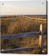 Fence Along The Dunes - Madaket - Nantucket Acrylic Print