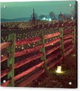 Fence And Luminaries 11 Acrylic Print