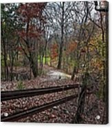 Fence In The Forrest Acrylic Print
