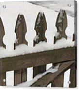 Fence In The Snow Acrylic Print