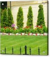 Fence Lined Garden Acrylic Print