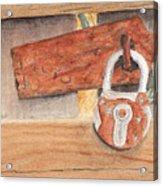 Fence Lock Acrylic Print