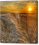Fence On The Beach Acrylic Print