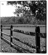 Fence Perspective Acrylic Print