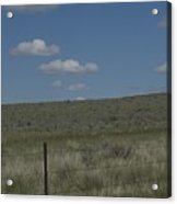 Fenced Clouds Acrylic Print