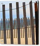Fenced Off Beach Acrylic Print