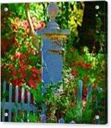 Fencepost Acrylic Print