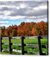 Fences, Fields And Foliage Acrylic Print