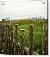 Fences In A Stormy Light Acrylic Print