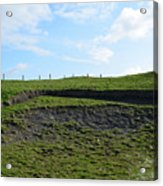 Fencing Along A Field Above The Cliff's Of Moher Acrylic Print