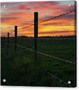 Fencline Sunset Acrylic Print