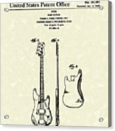 Fender Bass Guitar 1960 Patent Art Acrylic Print by Prior Art Design