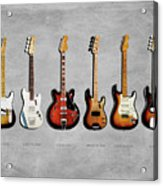 Fender Guitar Collection Acrylic Print