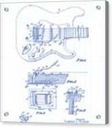 Fender Guitar Patent Drawing Acrylic Print