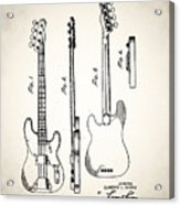 Fender Precision Bass Patent 1952 Acrylic Print