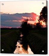 Fenland Sunset Acrylic Print
