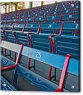 Fenway Bleachers Acrylic Print by Michael Yeager