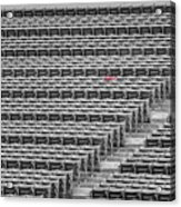 Fenway Park Red Chair Number 21 Bw Acrylic Print