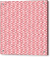 Fermat Spiral Pattern Effect Pattern Red Acrylic Print