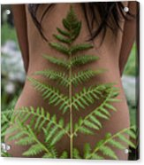Fern And Woman Acrylic Print