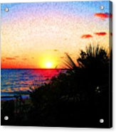 Fernandez Bay Sunset Acrylic Print