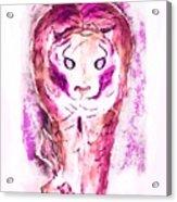 Ferocious Cat Acrylic Print
