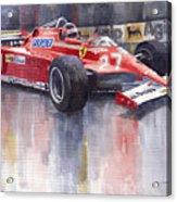 Ferrari 126c 1981 Monte Carlo Gp Gilles Villeneuve Acrylic Print by Yuriy  Shevchuk