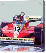 Ferrari 312 T3 1978 Canadian Gp Acrylic Print