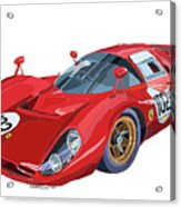 Ferrari 412p 330 P4 1967 Le Mans Acrylic Print