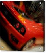 Ferrari Action Acrylic Print
