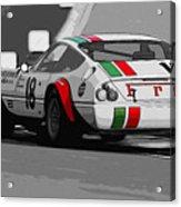 Ferrari Daytona 365 Gtb4 - Italian Flag Livery Acrylic Print