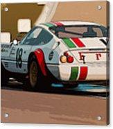 Ferrari Daytona - Italian Flag Livery Acrylic Print