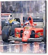 1991 Ferrari F1 Jean Alesi Phoenix Us Gp Arizona 1991 Acrylic Print