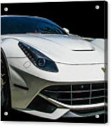 Ferrari F12 Berlinetta In White Acrylic Print