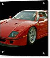Ferrari F40 Acrylic Print