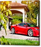 Ferrari F430 On Adv1 Wheels 2 Acrylic Print